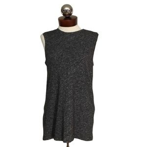 Everlane sleeveless sweater tee XS marled gray